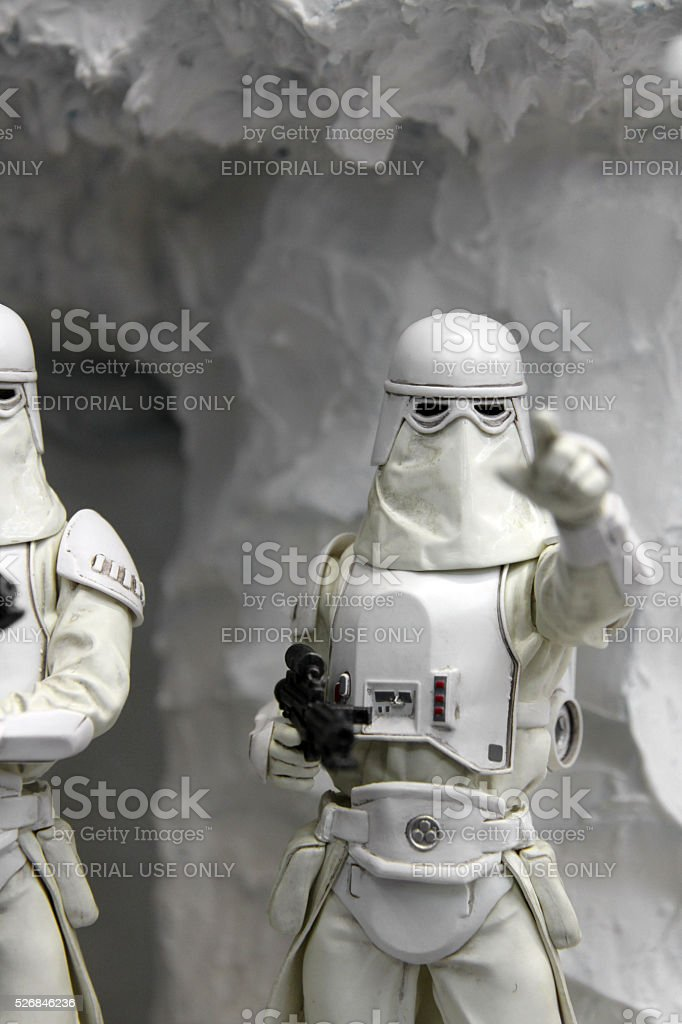 Hunting in the Caves of Hoth stock photo
