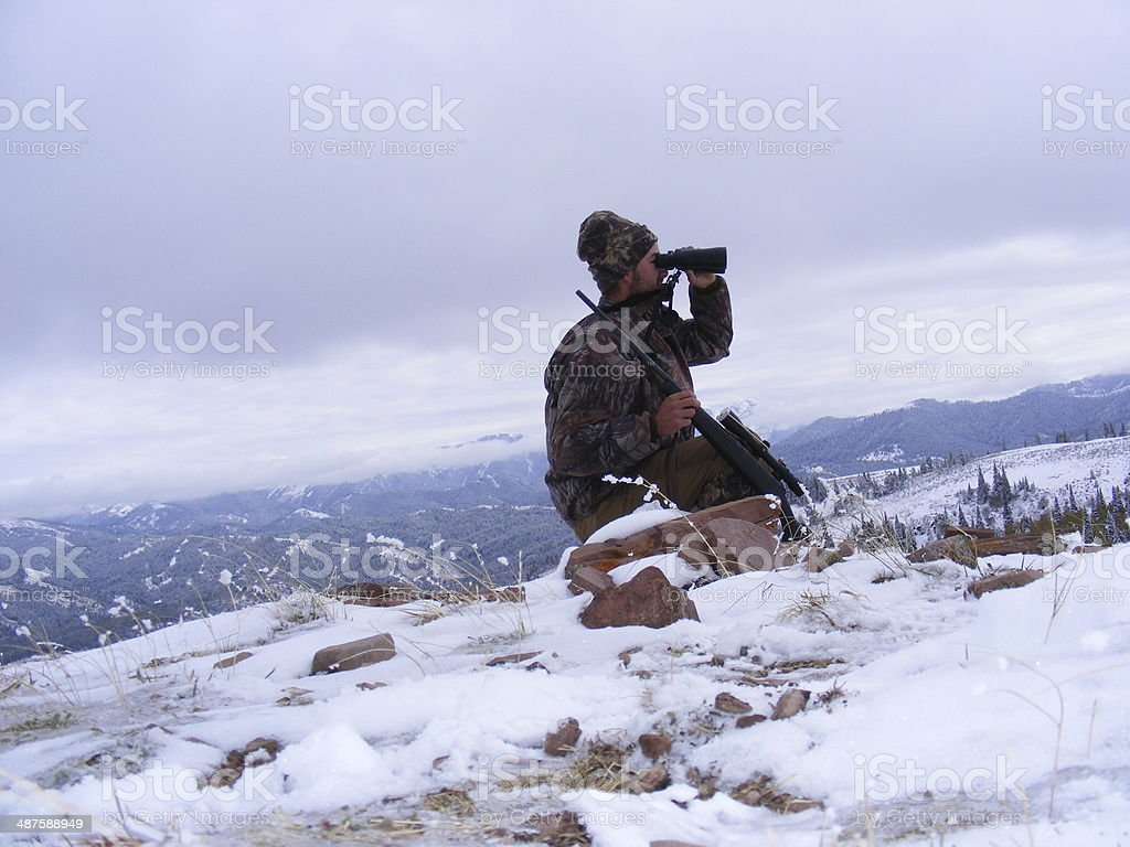 Hunting in the Mountains stock photo