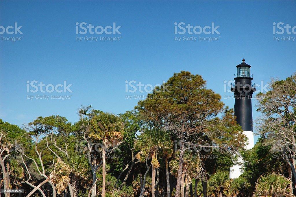 Hunting Island Lighthouse stock photo