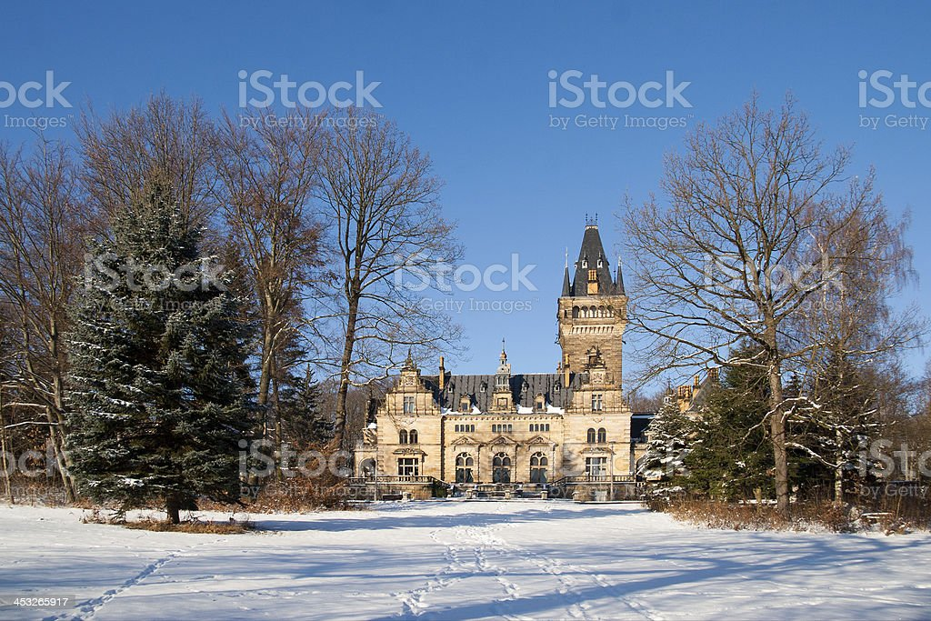 Hunting lodge Hummelshain stock photo