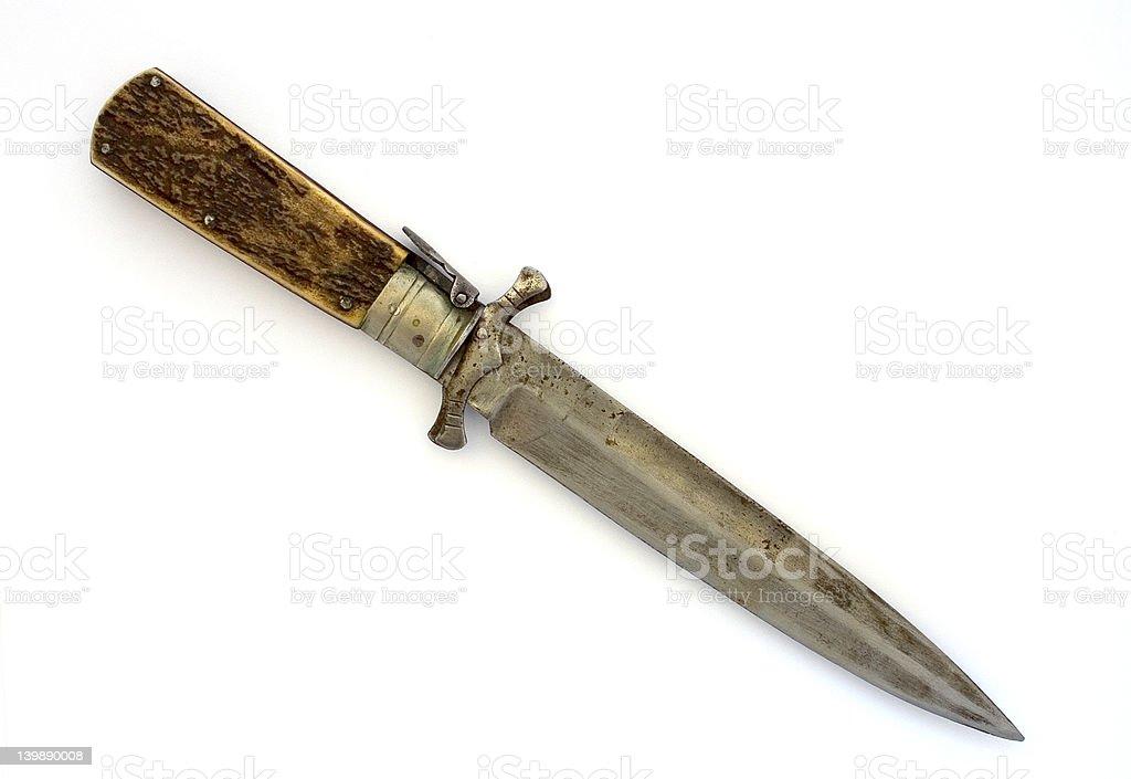 Hunting pocket knife royalty-free stock photo