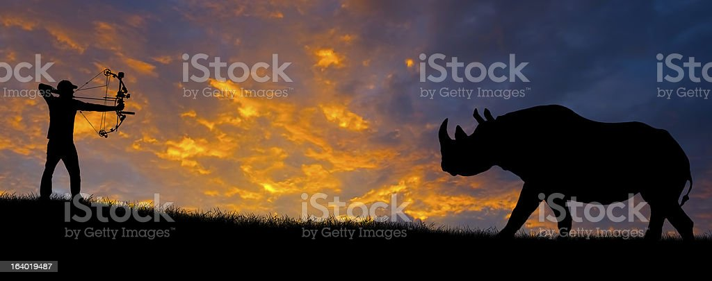 Hunting Silhouette stock photo