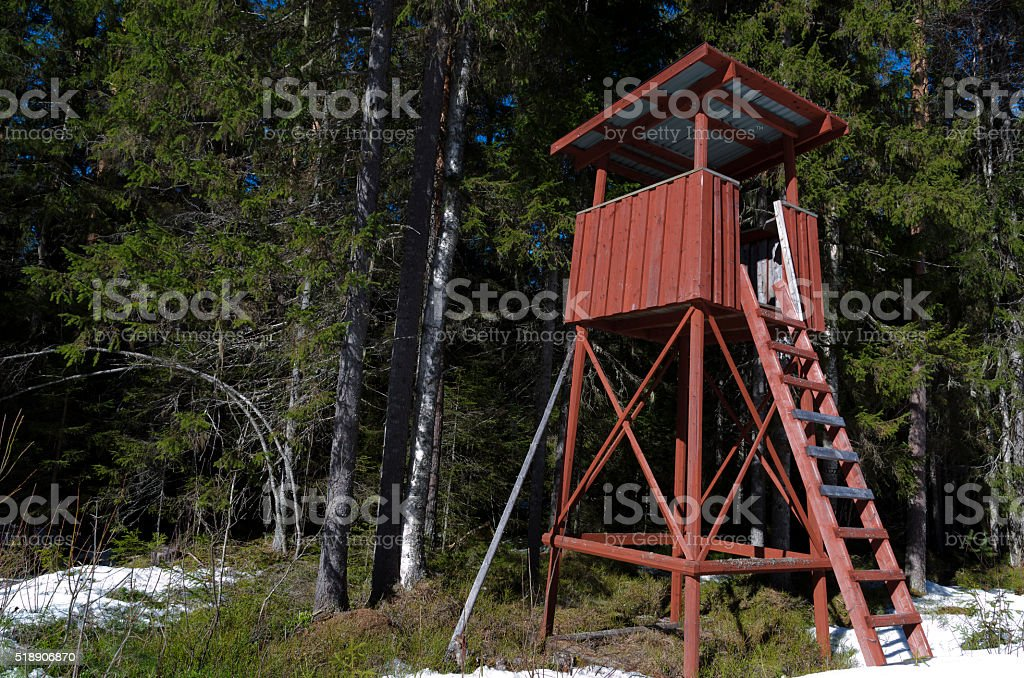 Hunting Tower stock photo