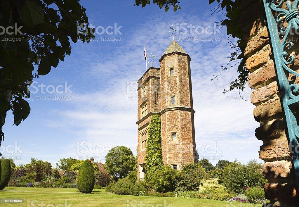 Hunting Tower Sissinghurst stock photo