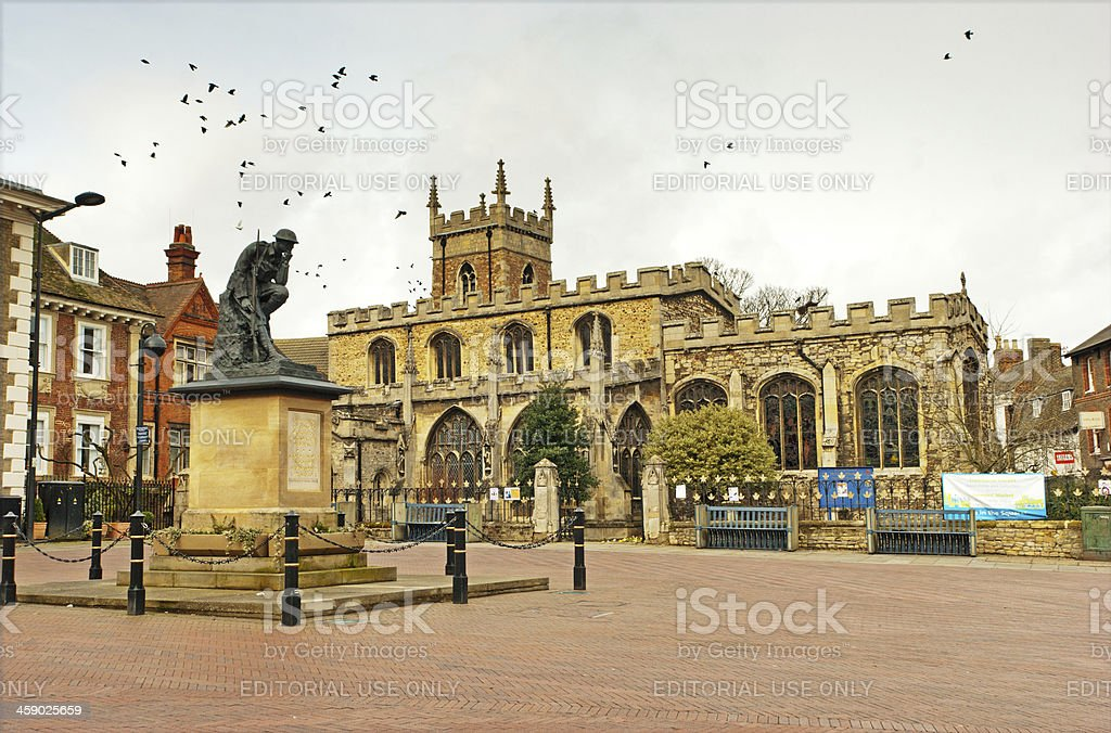 Huntingdon All Saints Church stock photo