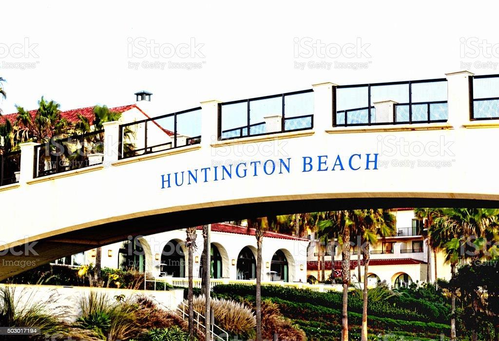 Huntington Beach Bridge stock photo