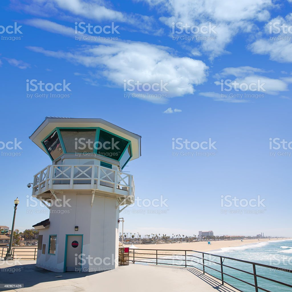 Huntington beach california stock photos and pictures getty images - Huntington Beach Main Lifeguard Tower Surf City California Royalty Free Stock Photo