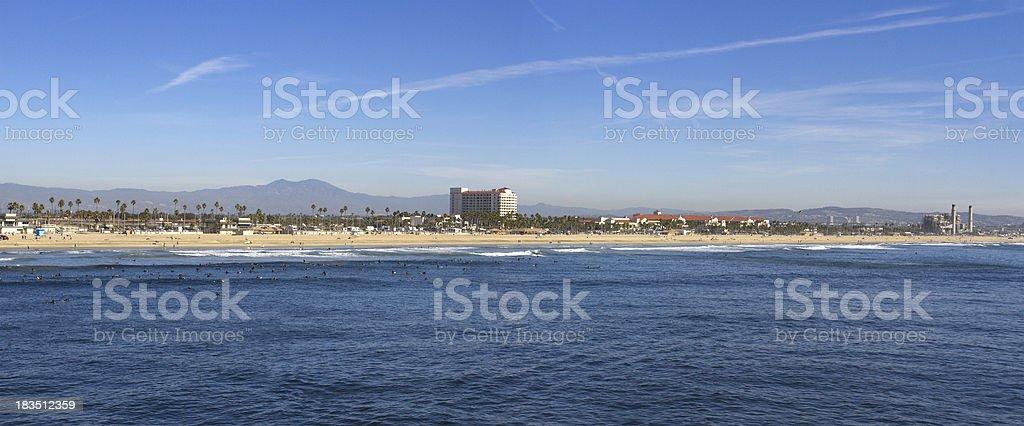 Huntington Beach Panoramic stock photo