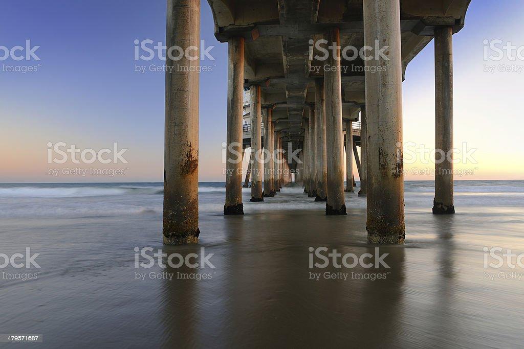 Huntington Beach Pier, California stock photo