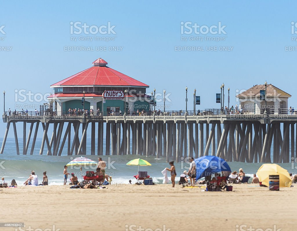 Huntington beach california stock photos and pictures getty images - Huntington Beach Pier On A Summer Day California Royalty Free Stock Photo