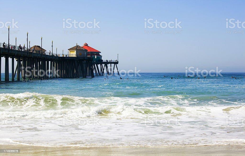 Huntington Beach Pier stock photo
