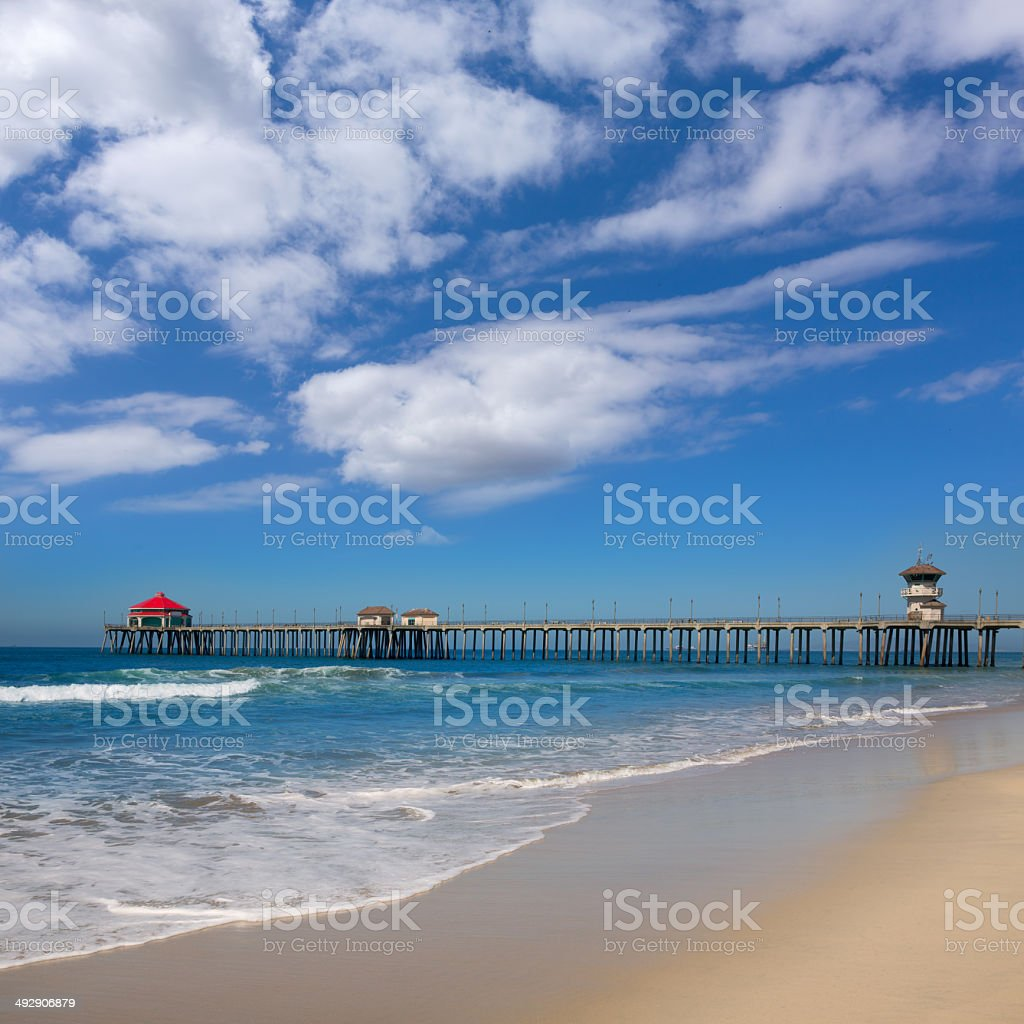 Huntington beach california stock photos and pictures getty images - Huntington Beach Pier Surf City Usa With Lifeguard Tower Royalty Free Stock Photo