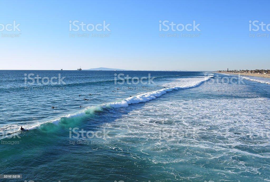 Huntington Beach Surf, California stock photo