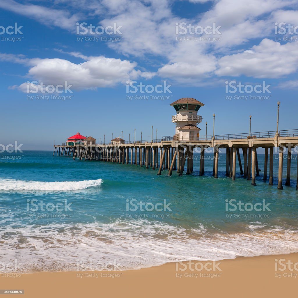 Huntington beach california stock photos and pictures getty images - Huntington Beach Surf City Usa Pier View Royalty Free Stock Photo