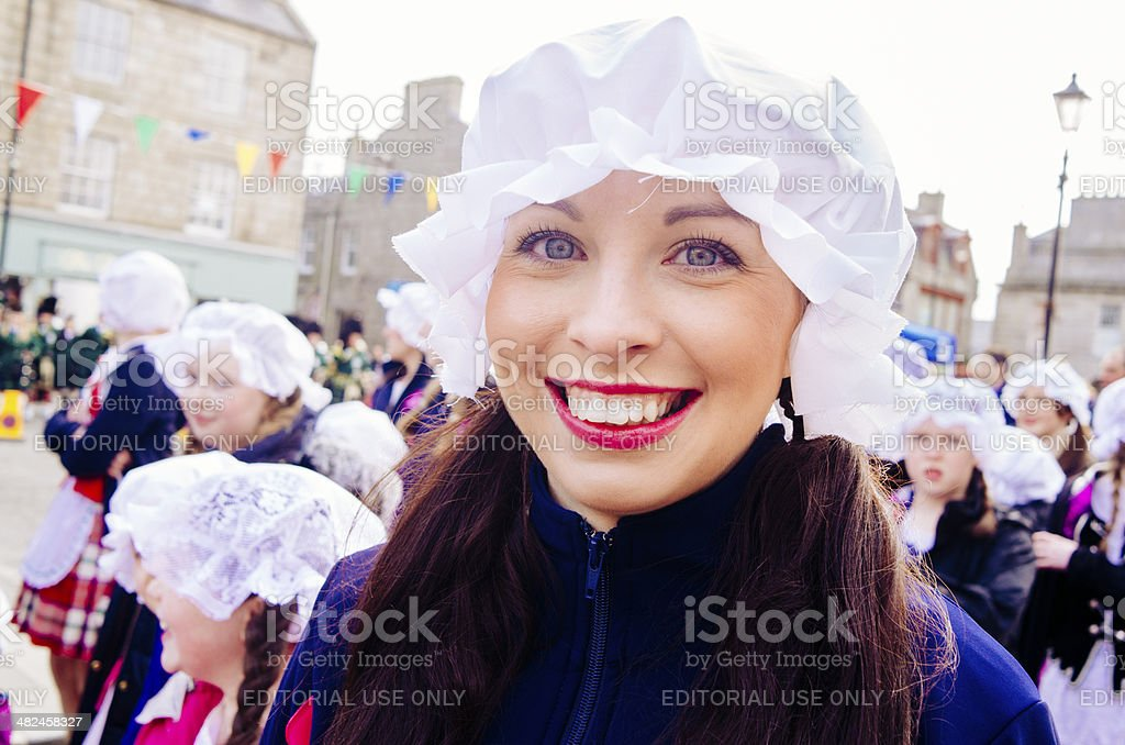 Huntly Town celebrations stock photo