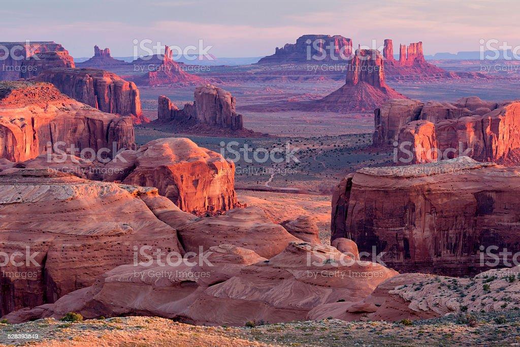 Hunt's Mesa Overlook stock photo