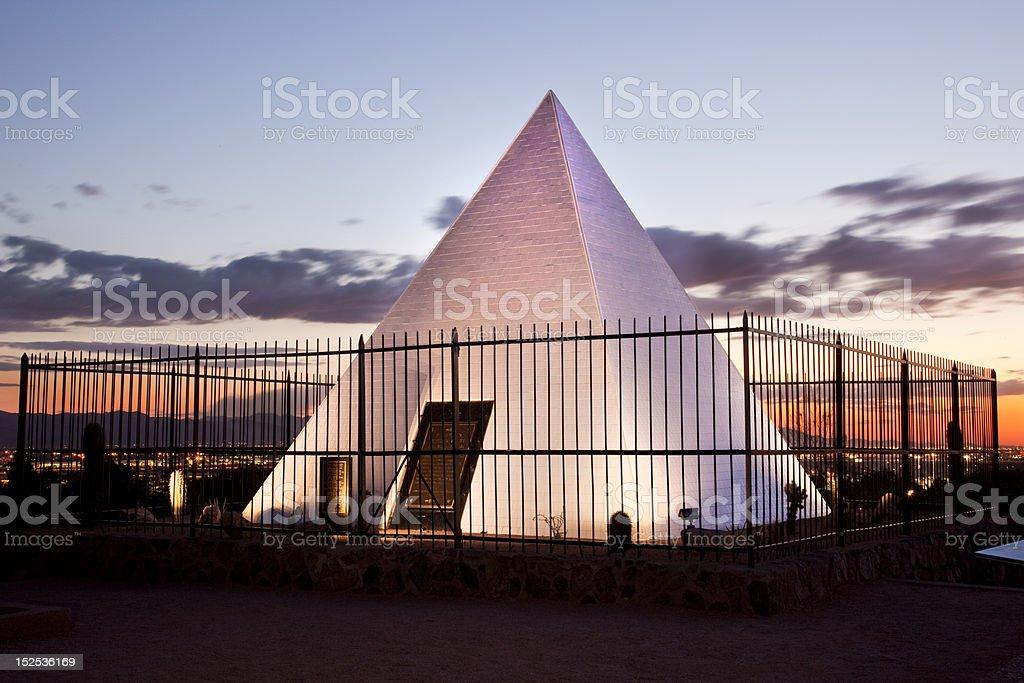 Hunt's Tomb Pyramid in Tempe Arizona stock photo