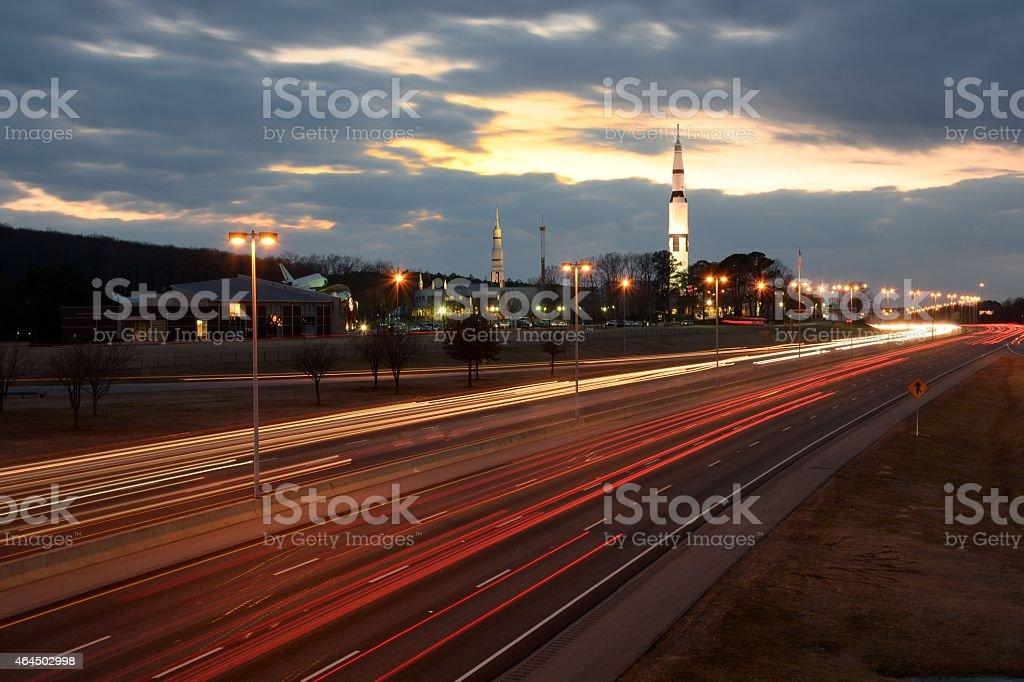 Huntsville Alabama in motion stock photo