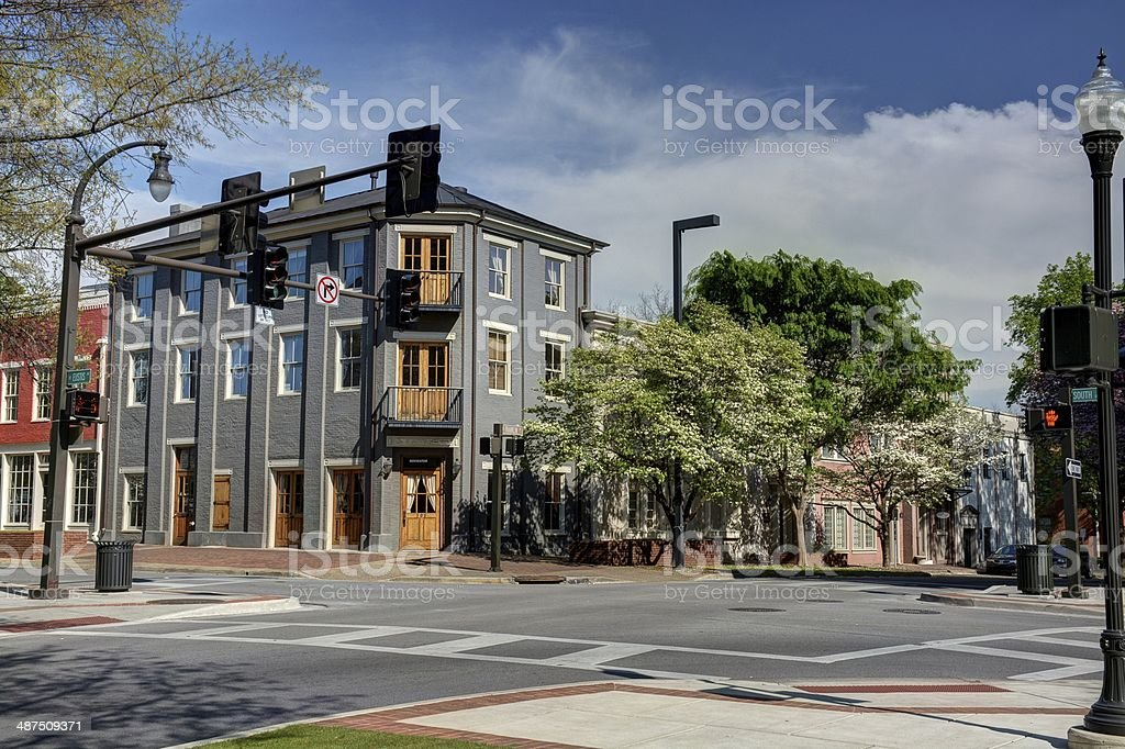 Huntsville Alabama Town Square stock photo