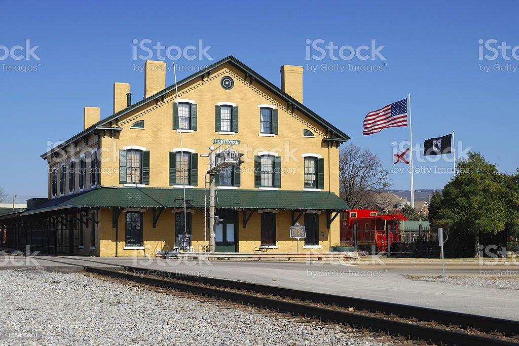 Huntsville Train Depot stock photo