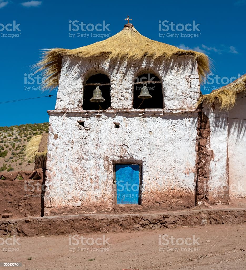 hurch with a straw roof royalty-free stock photo