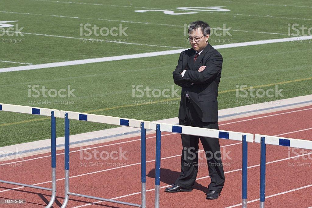 Hurdle Analysis royalty-free stock photo