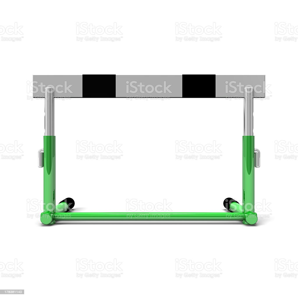 Hurdle Front View stock photo