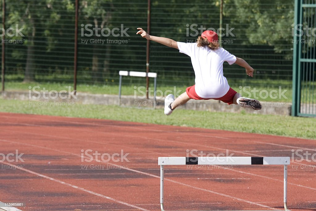 Hurdle Jump in action royalty-free stock photo