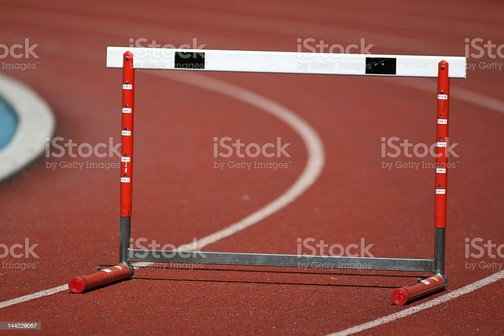 Hurdle on the sports stadium royalty-free stock photo