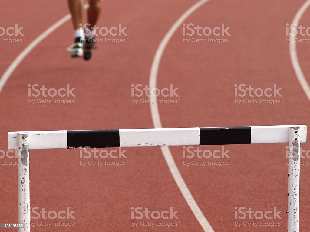 Hurdle royalty-free stock photo