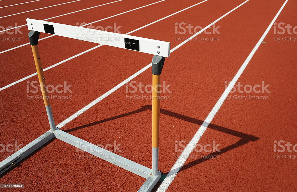 Hurdle stock photo