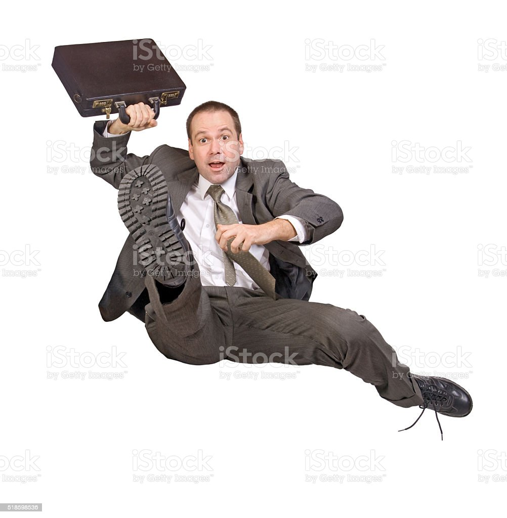 hurdle race businessman with briefcase stock photo
