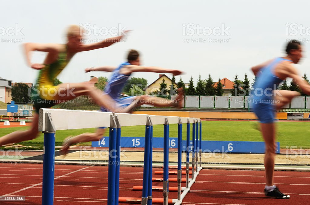 Hurdle race royalty-free stock photo