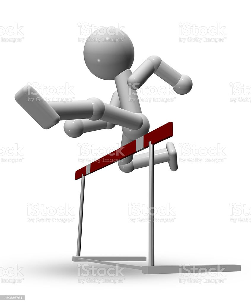 hurdle race royalty-free stock photo