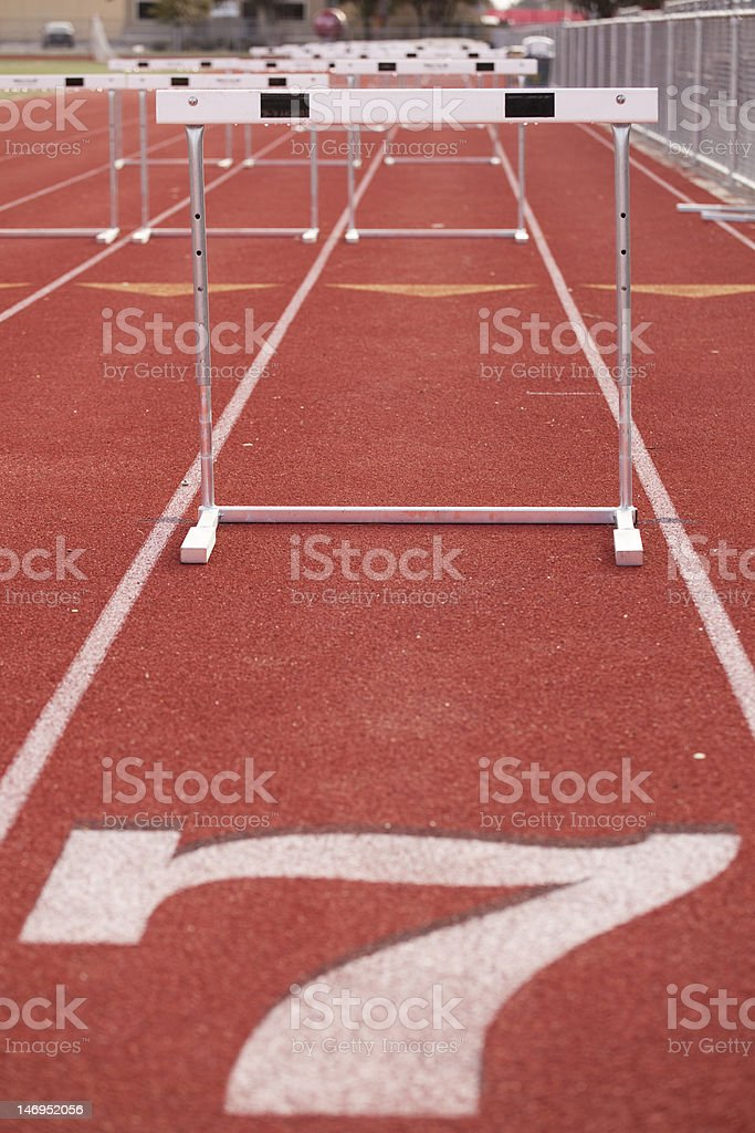 Hurdle Seven royalty-free stock photo