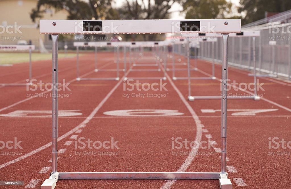 Hurdle Track stock photo