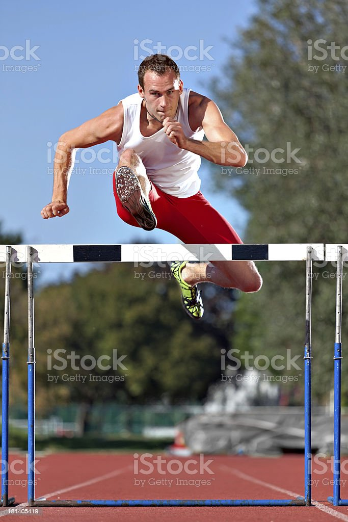 hurdler stock photo
