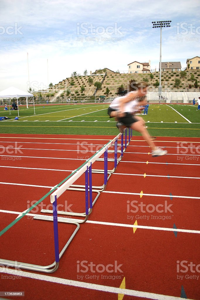 Hurdlers royalty-free stock photo