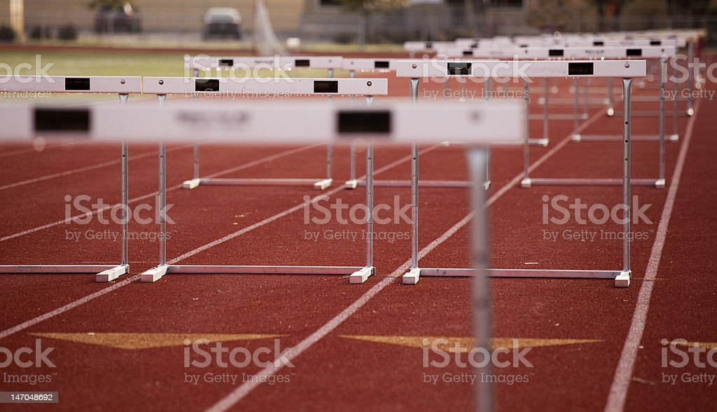 Hurdles Angle stock photo