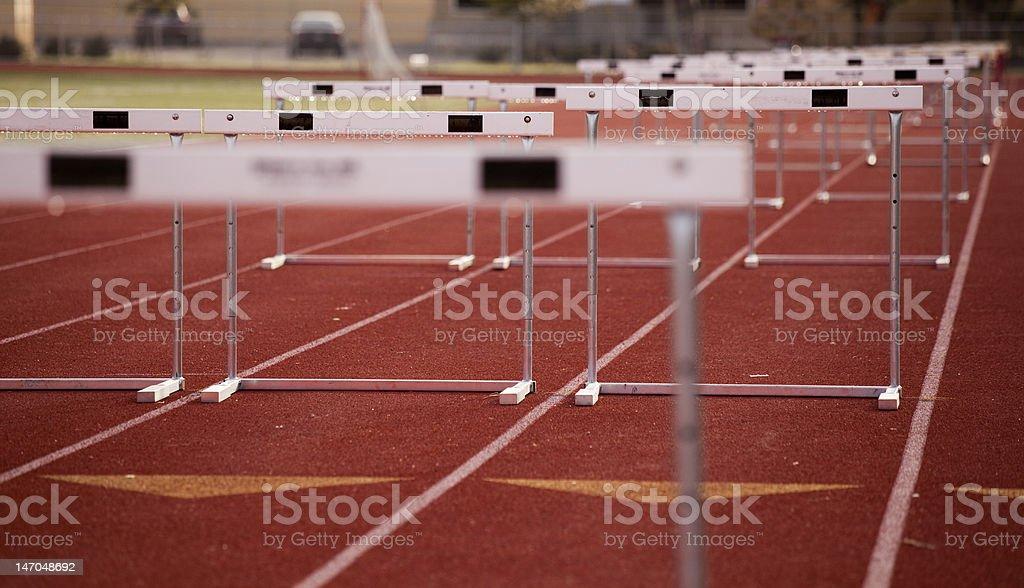 Hurdles Angle stock photo