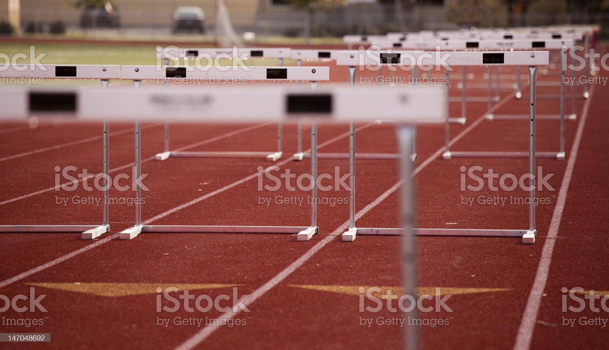 Hurdles Angle royalty-free stock photo