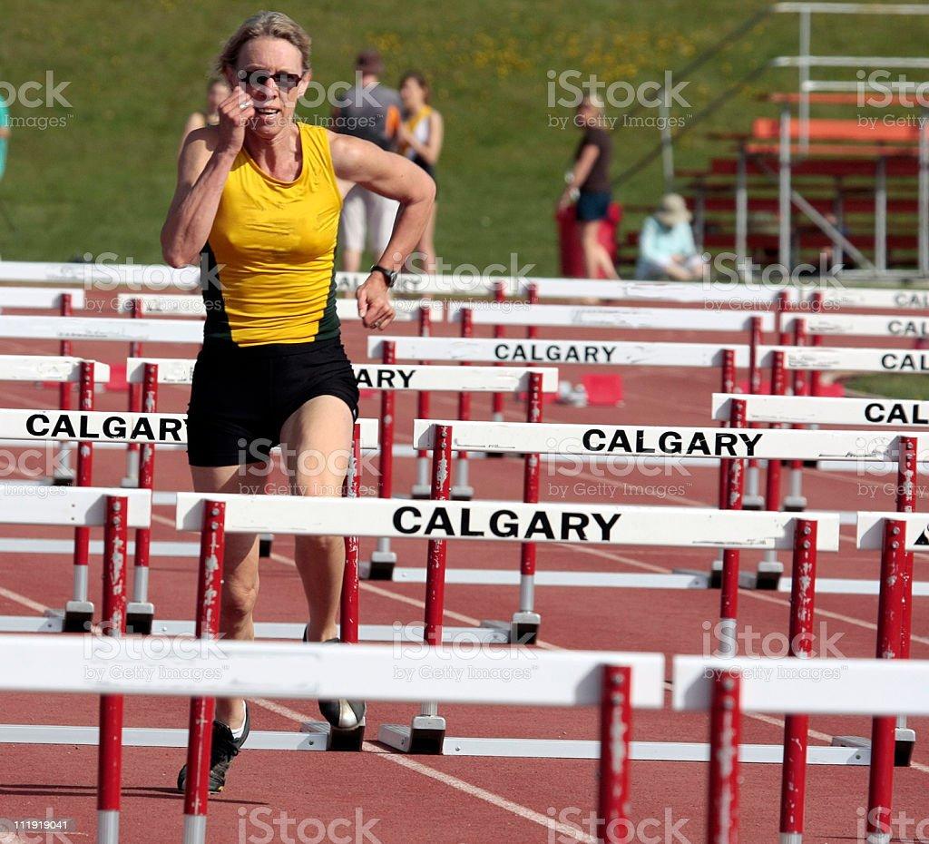 Hurdles Master Athlete royalty-free stock photo