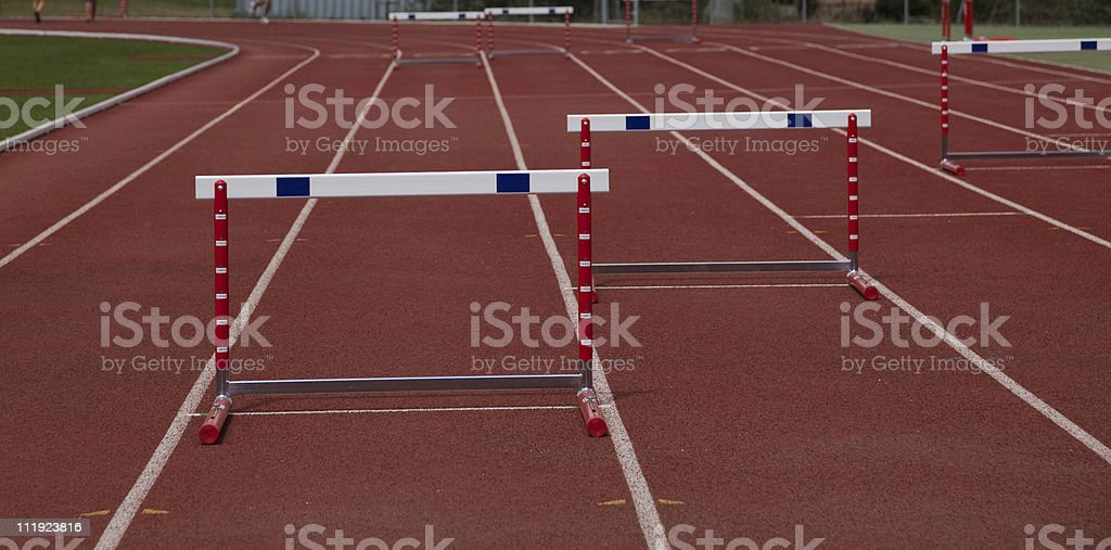 Hurdles on track royalty-free stock photo
