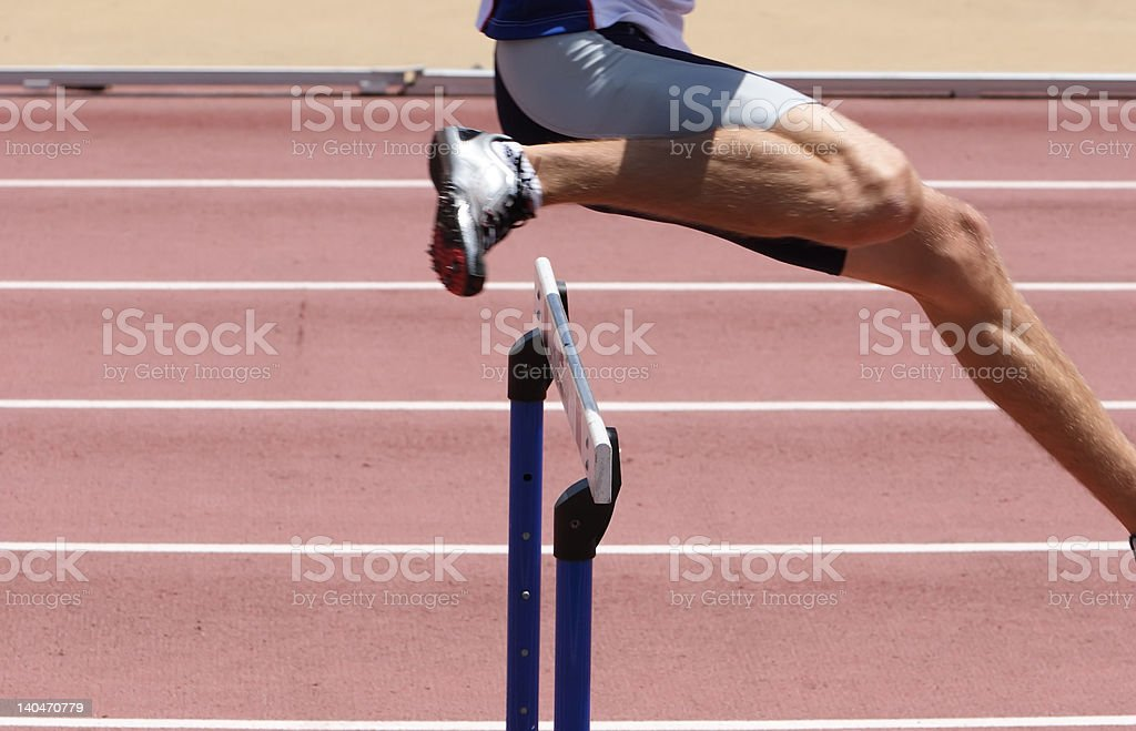 Hurdles royalty-free stock photo