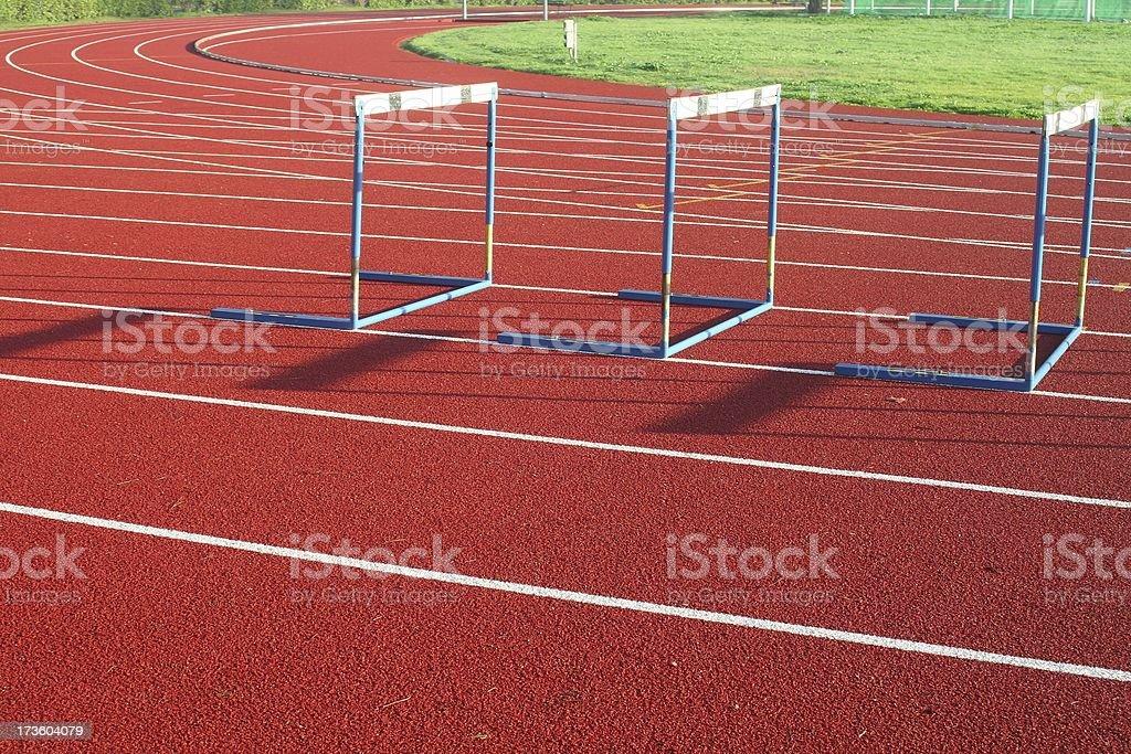 Hurdles royalty-free stock photo