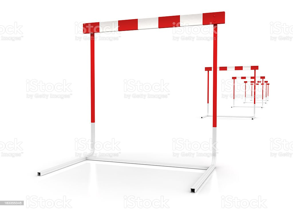 hurdles stock photo