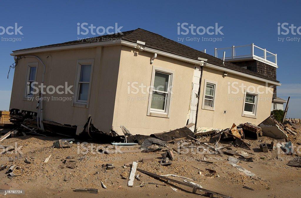Huricane Damage - Seaside Heights, New Jersey stock photo