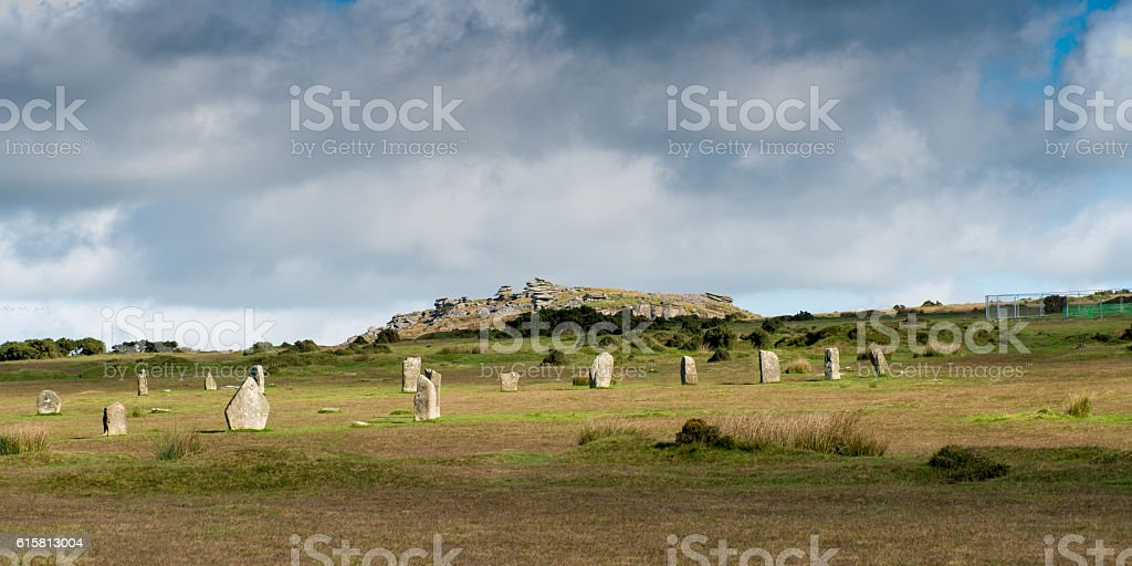 Hurlers Stone Circle stock photo