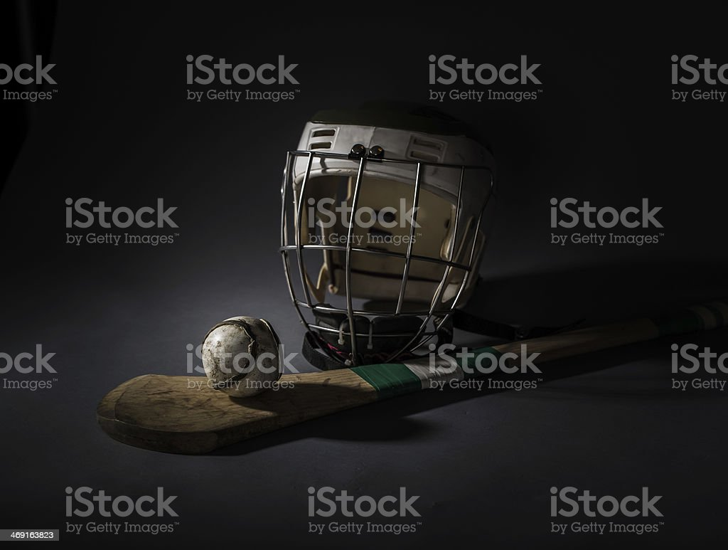 Hurling Equipment From Above stock photo