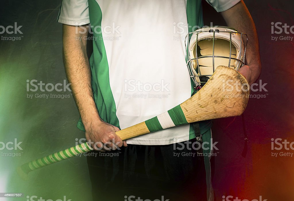 Hurling Player Blank Jersey stock photo